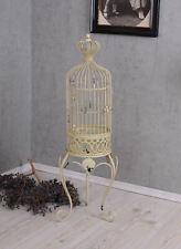Vogelhaus Voliere Deko Käfig Shabby antik Metall 86 cm auf Ständer weiss