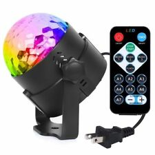 7 Colors Disco Party Lights Crystal Sound Activated Effect Ball Remote LED Club