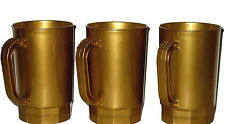 10 Pearl Gold Beer Mugs-Steins, Holds 1 Pint, Made in America, Lead Free No BPA*