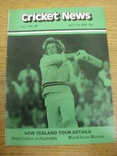 01/04/1978 Cricket News: Vol.01 No.26 - A Weekly Review Of The Game, New Zealand