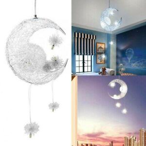 Kinderlampe Deckenlampe LED Pendelleuchte Kinderzimmer Sternen Motiv E27 Lampentyp:/Deckenleuchte Silber Lampenschirm:/Grau /Ø45.5 cm