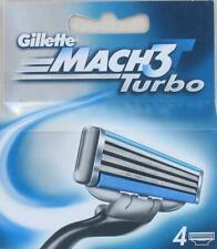 GILLETTE MACH3 TURBO 4 RAZOR BLADES FOR MEN  (BLUE PACK)