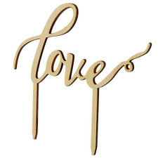 LOVE Wooden Cake Topper Sticks Wedding Cake Decoration Photo Birthday party AU