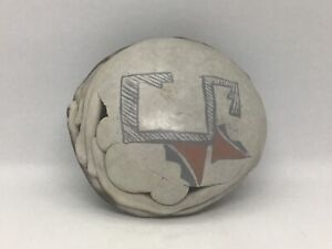 Lot# 1847. Vintage Sawdust Fired Pottery Rattle by Claudia O' Driscoll, 1961