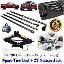 Fit Ford F150 (04-14 ) Spare Tire Lug Wrench Tool Kit With 2 Tonne Scissor Jack