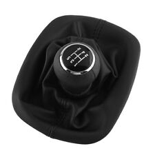 For PASSAT B5  5-Speed PU Leather Shift Knob Gear Gaitor Boot Chrome Cover