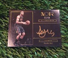 Al Horford 2015 Panini Noir ON CARD Color Acetate Auto #ED /49 HAWKS