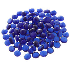 100Pcs Crystal Glass Marble Beads for Aquarium Dark Blue