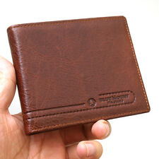 New Slim Brown Leather Men's Wallet Bifold Credit Card Slots ID Window Purse