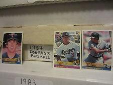 1984 Donruss Baseball pick 25 card lot complete your set ex-nm