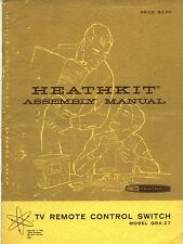 *RARE HEATHKIT Manual for TV remote Switch GRA-27 Unmarked Unbuilt Kit Excellent