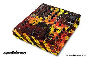 Skin Decal Wrap for PIONEER DJM-900 DJ Mixer CD Pro Audio DJM900 Parts MELTDOWN