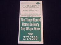 R612 1975 READING Railroad TIMETABLE Norristown ELM Mai