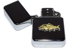 Mirror Carp Fish Lighter Enamel Badge NO FUEL INC Smoking Gift Fishing Anglers