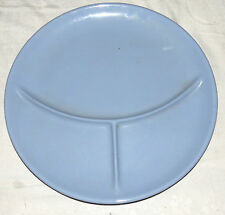 """Tepco Light Blue Restaurant Ware 13"""" Three-section Grill Plate"""