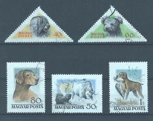 Hungary 1956 Hungarian Dogs, five values, FU