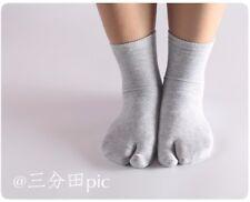 3 Pairs Two-toed Tabi Socks Finger Toe Socks Men Women Clogs Cosplay Slippery