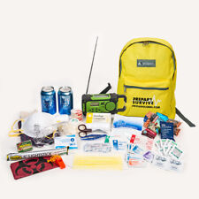 Survival Backpack for Disaster Preparedness With Solar/Dynamo Radio/Flashlight