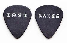 Orgy Paige Haley Signature Black Guitar Pick - 1990s Tours