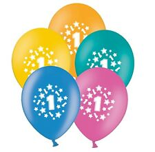 """number 1 - stars -  12"""" Tropical Assortment Latex Balloons pack of 20"""