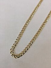 20'' 3.5mm 14k Yellow REAL Gold Miami Cuban Curb Lite Chain Necklace Mens 5g