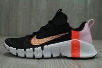 63 Nike Free Metcon 3 Black Metallic Copper Training Shoes CJ6314-086 Womens 10