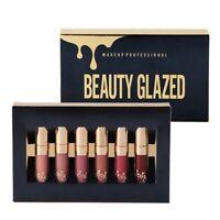 6PCS/Set Matte Liquid Lipstick Long Lasting Lip Gloss Beauty Glaze Waterproof