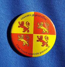 Owain Glyndwr The Last Welsh Prince - Large Button Badge - 58mm diameter