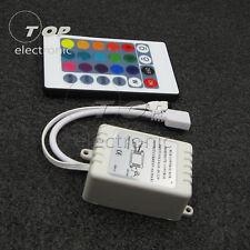 24 Keys IR Remote Sound Sensor Controller for RGB LED Light Strip 12V