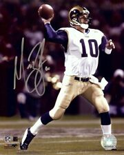 Marc Bulger Signed Autographed 8X10 Photo Rams Throwing Football w/COA