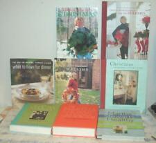 Martha Stewart Living Lot of 8 Cookbooks Christmas Books Wreaths Cooking