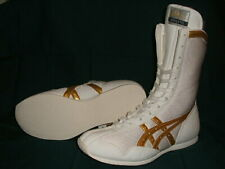 Authentic asics Boxing Shoes Long type White × White × Gold from Japan Bto F/S