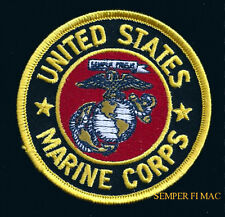 US MARINES LOGO SEAL EGA PATCH MAR DIV MAW FSSG US NAVY FMF USS MCB MCAS MCRD