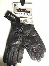 New Ladies Bow Leather Gloves Large Touch Screen Winter Thermal Warmth Hot Cold