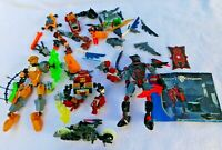 1 - 2  pounds + Lego Bionicle Kinght Valdek figures motorcycle lot parts pieces