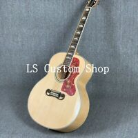 Handmade 43'' Jumbo Top Quality 12 Strings  Solid Top  Electric Acoustic Guitar