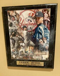 New York Yankees Derek Jeter Limited Edition 2000 World Series MVP Plaque
