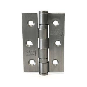 "Door Hinge Brushed Stainless Steel 3""x 2"" | 75mm x 50mm Ball Bearing Butt Hinge"