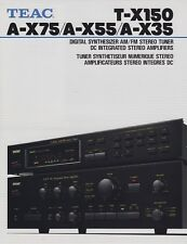 Teac A-X75, A-X55, A-X35 Amp,T-X150 Tuner Brochure 1987