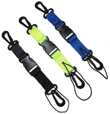 Scuba Diving Lanyard with Dual Clips & Quick Release Buckle