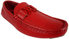 MEN'S GIOVANNI SHOE DRESS LOAFER FAUX LEATHER CASUAL SLIP-ON WEDDING M15-20