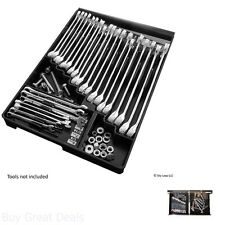 New Wrench Organizer Tool Sorter Holder Rack Rail Toolbox Black