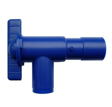 28MM DRAINAGE DRAIN TAP BLUE FRESH WATER - FOOD SAFE - Caravan / Motorhome