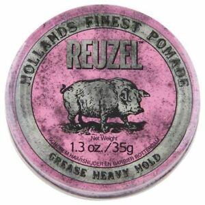 Reuzel Pink Heavy Hold Grease with Medium Shine Finish 35g Men