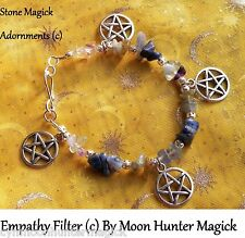 Energy Filter Empathy Shield© Stone Spell Bracelet Reiki Crystal Healing Pagan