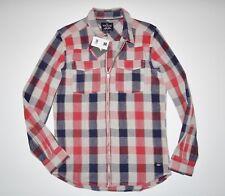 DC Shoes Mens Chris Cole Steamtown Cotton Casual Full Zip Plaid Jacket M