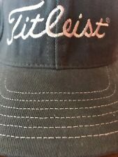 Vintage Titleist Dci Leather Strapback Hat Cap Blue Golf Clubs Irons Embroidered