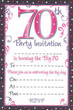 20 Special Birthday Party Invitation Sheets Choice of Designs with Envelopes