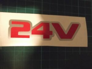 24 valve  24v side or tailgate stickers  x 3
