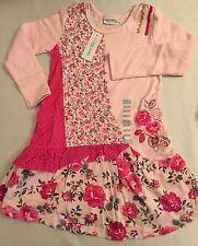 NWT Naartjie Dress 3 yrs, Tilly Pieced Print Dress w Applq, NEW, twins,triplets?